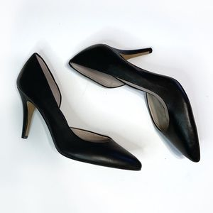 Vince Camuto class black leather heels size 9.5